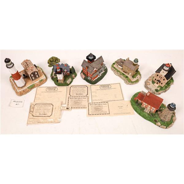 New England States Lighthouse Figurines (6)  [139626]
