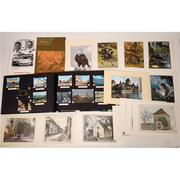 Collection of Travel Postcards, Art Prints   [138005]
