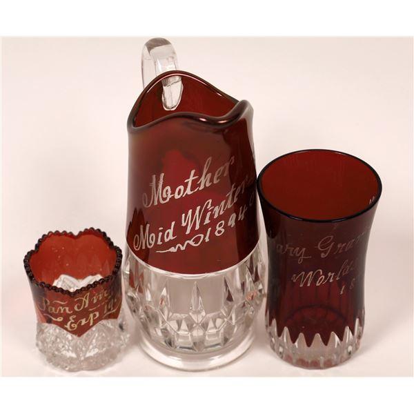 Exposition Souvenir Red Glass (3)  [139506]
