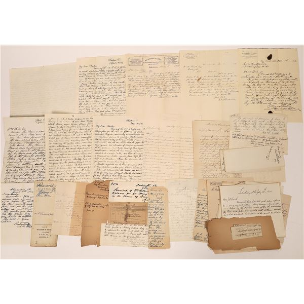 Miscellaneous 19th Century Letters & Documents Collection (40)  [139218]
