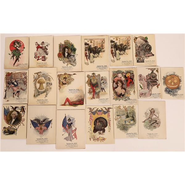 High Quality Sample Greeting Cards, c1890s  [130556]