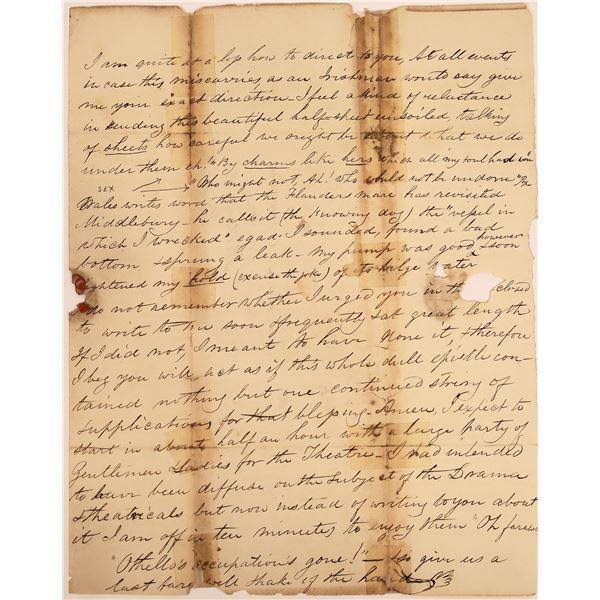 Humorous Sexual Metaphor Letter, 1823  [130549]
