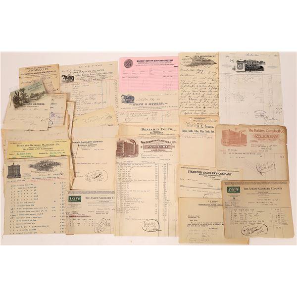 Saddlery Company Billing Invoices (70)  [139498]