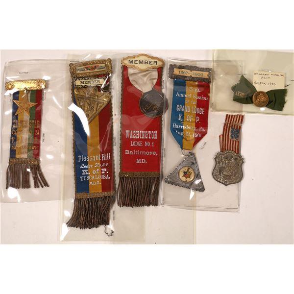 Fraternal Lodge Medal Hanger Collection  [139246]