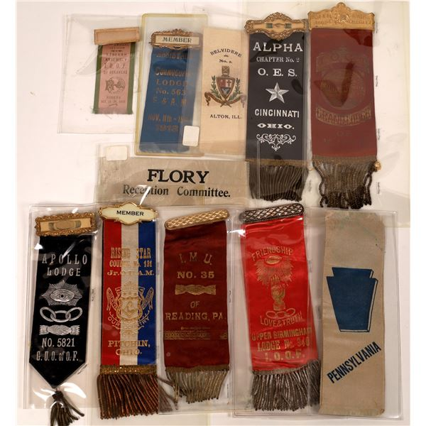 Fraternal Lodge Ribbon Collection  [139257]