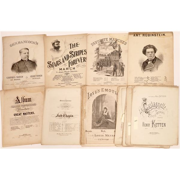 Sheet Music from the 19th Century   [140012]