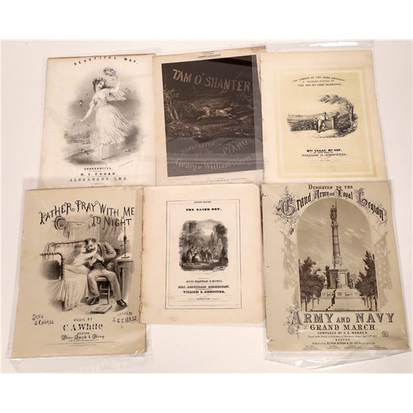 Very Early Sheet Music – featuring Army and Navy Grand March  [130543]