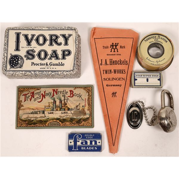 Vintage Toiletries Found In A World War Two Suitcase  [139657]