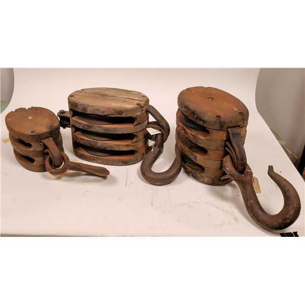 19th C. Block and Tackle hardware  [139999]