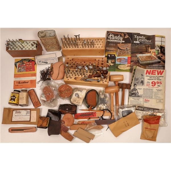 Leather Craftsman's Vintage Hand Tools and Supplies  [140700]