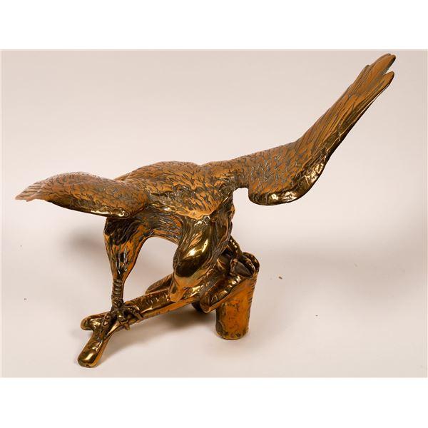 Brass cast Eagle on Perch  [138424]