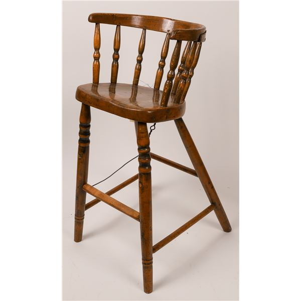 Antique Early Handmade Baby Highchair  [139442]