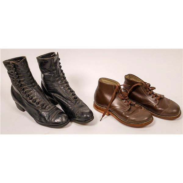 Vintage button-up boots and Tarso Pronator Shoes   [138406]
