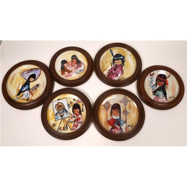 Deglazia Indian Children Plate Collection (6)  [139358]