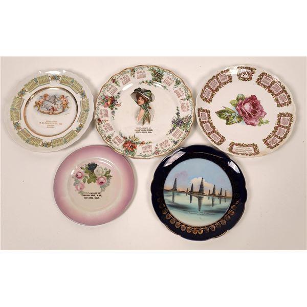 California Souvenir Plate Collection (5)  [139504]