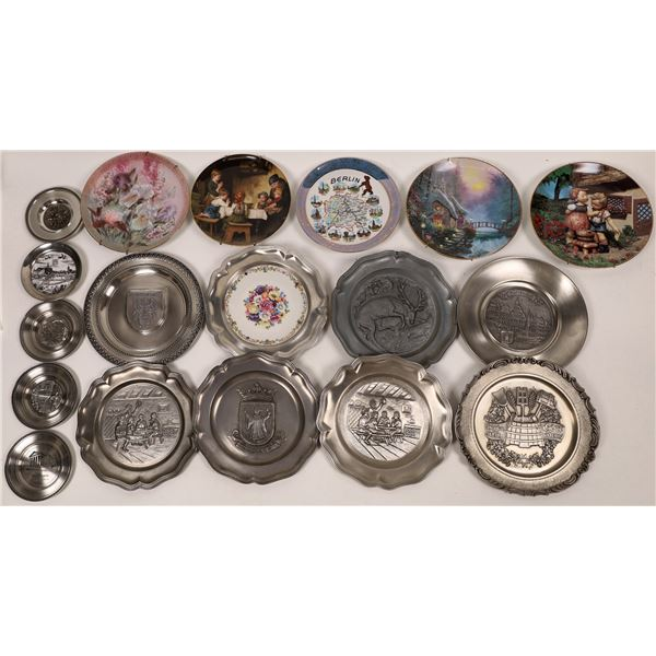 Decorative Plates in Pewter - 16, and Porcelain - 6  [138753]