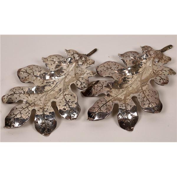 Sterling Silver Candy Dishes, Oak Leaf Design - 2  [138343]