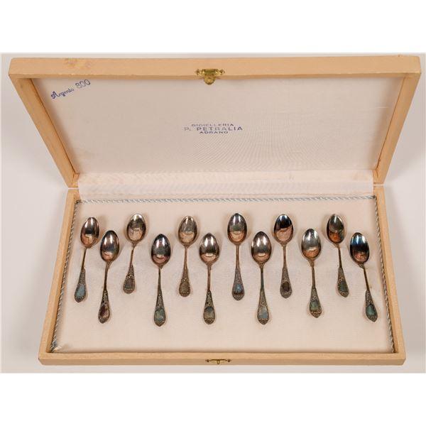 800 Argento Silver Demitasse Spoon Set  [139013]