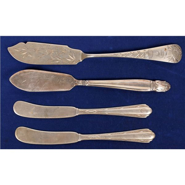 Butter Spreaders, Sterling Silver (3) and Silverplate (1)  [138355]