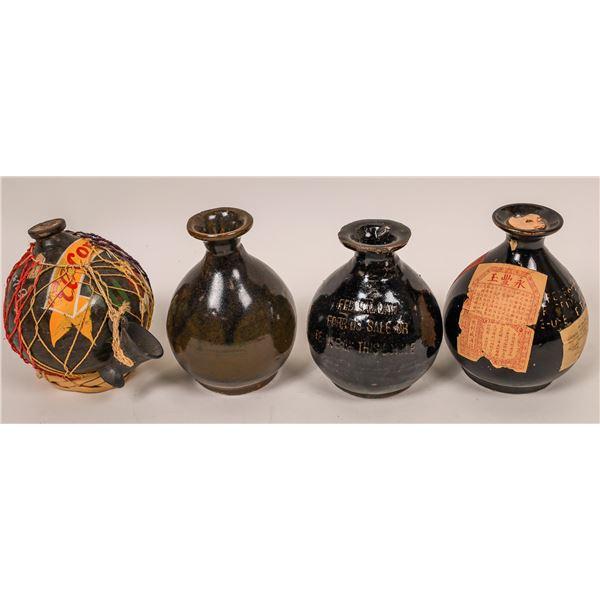 Chinese & Spanish Wine Crocks (4)  [139357]
