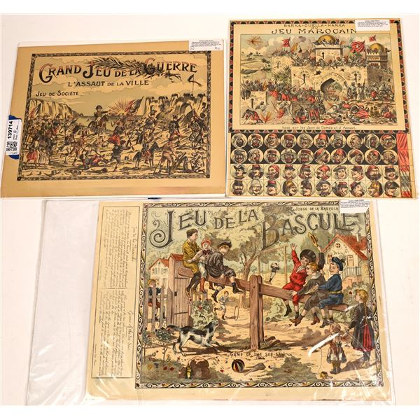 French Board Games by Saussine Co. of Paris  [139714]