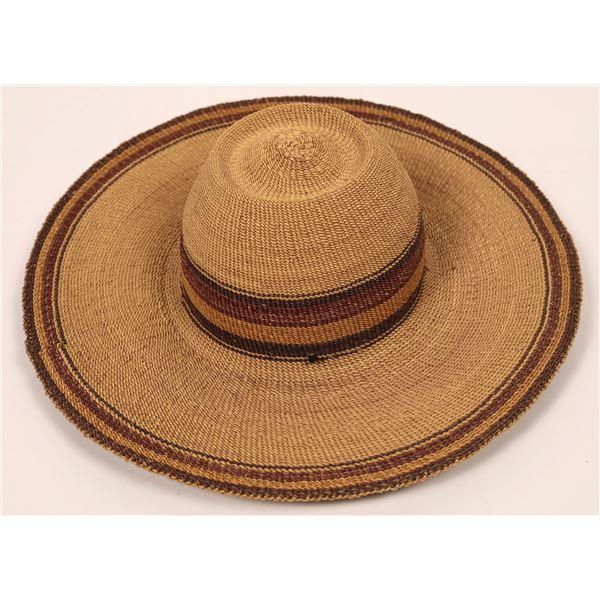 Ghana Woven Bolga Hat  [140210]