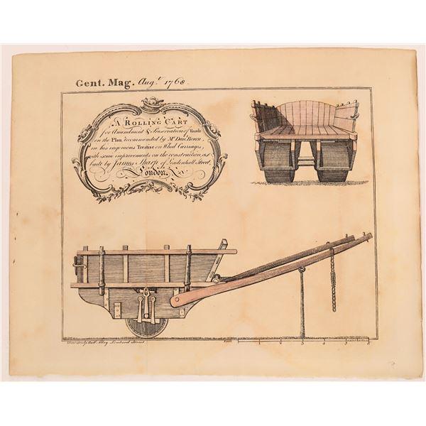 Early English Heavy Cart Illustration  [127018]