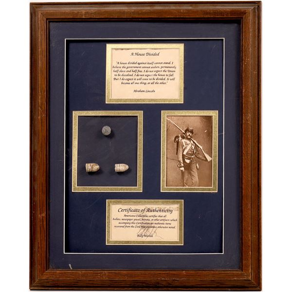 Civil War Bullets, Framed  [138667]