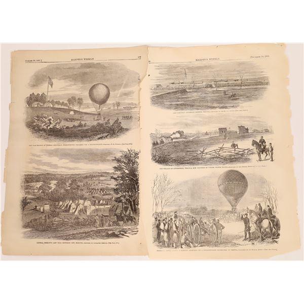 Civil War Block Prints in the Harper's Weekly 1861  [140014]