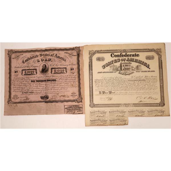 Confederate Bond Certificates  [138518]