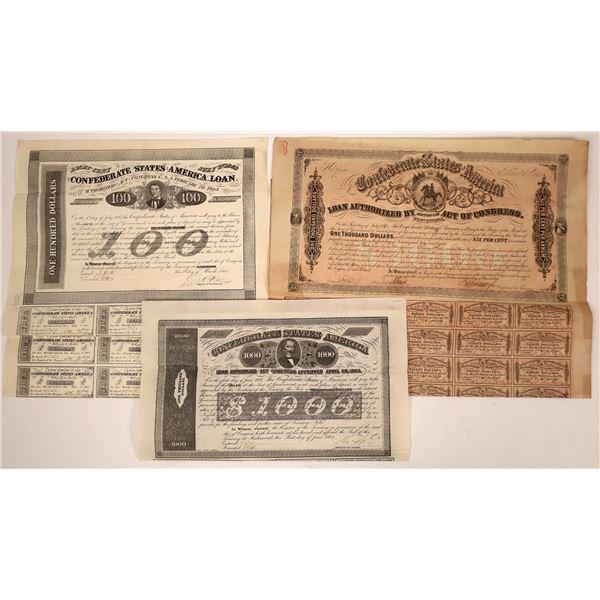 Confederate Bond Certificates  [138513]