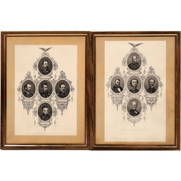 Union Generals w/Jefferson Davis (2 items)  [139227]