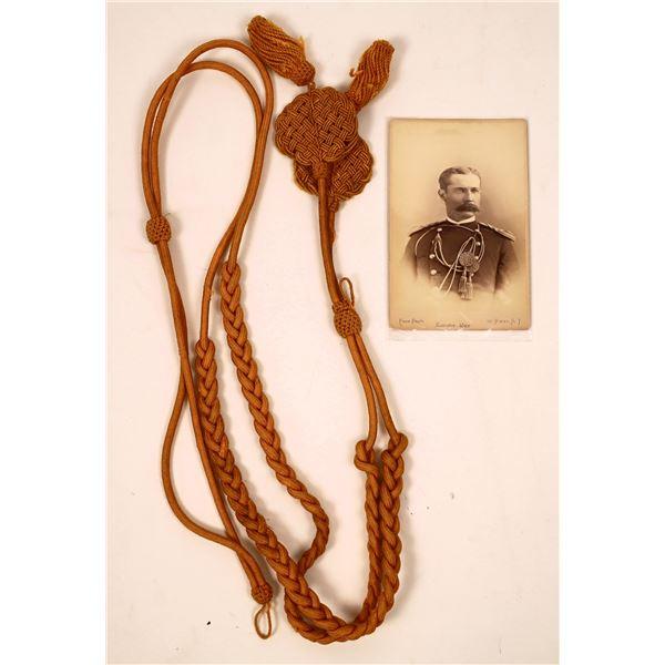 Indian Wars Shako Cord and Photo  [137739]