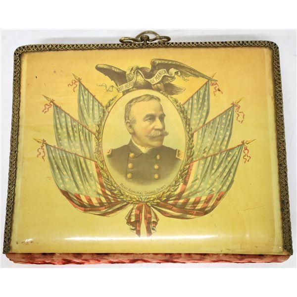 Admiral George Dewey Celluloid Antique Photo Album  [139023]