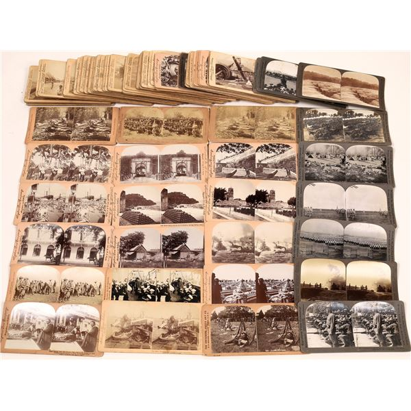 Stereo View Card Collection Spanish American War and World War One  [139775]