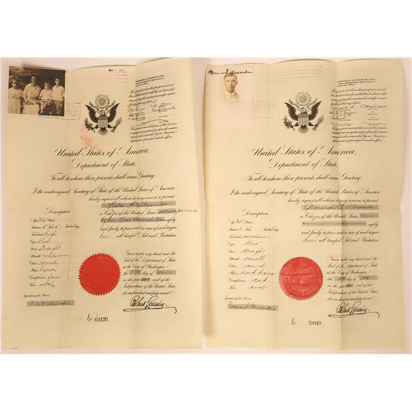 World War One United States Passports to the Virgin Islands  [137880]
