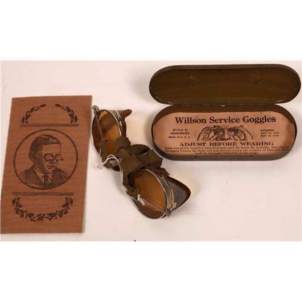 Wilson Service Goggles + Case  [140452]