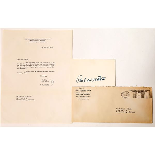 Military Heroes Nimitz & Tibbets Signatures (2)  [131749]