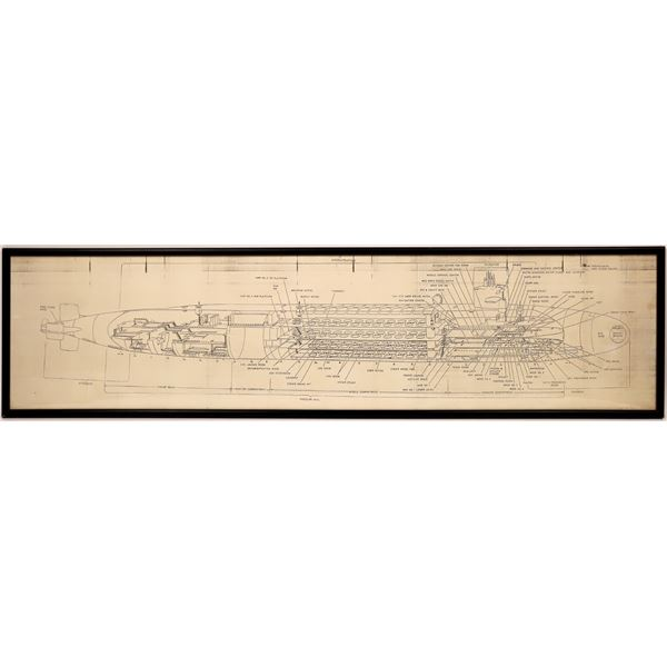 Engineering Diagram of a U.S. Nuclear Submarine  [139630]