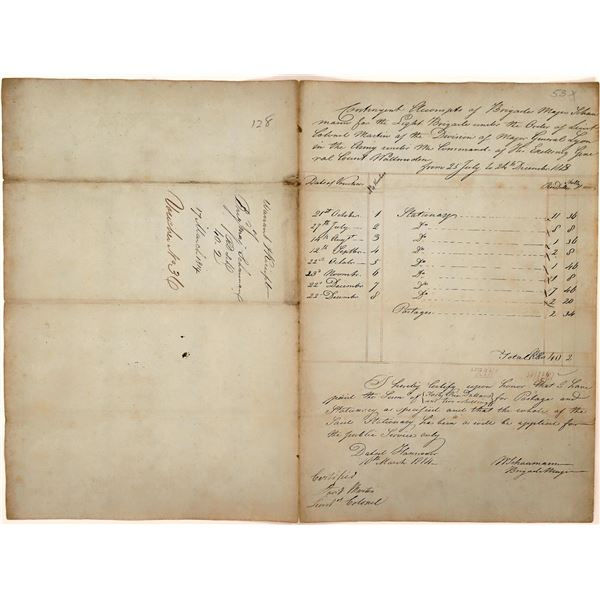Expense Report for 1814 British Light Brigade  [140494]