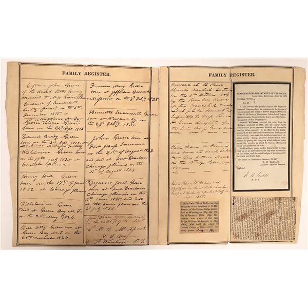 John Green Family Register c. 1838 (2)  [139283]