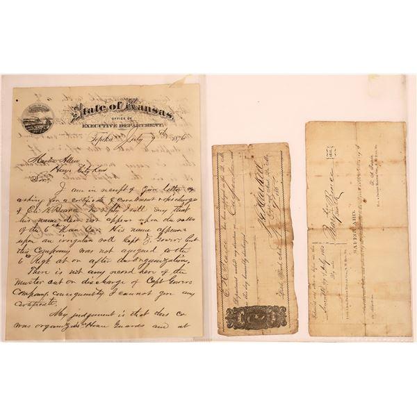 Handwritten Letter from Kansas Major  [140482]