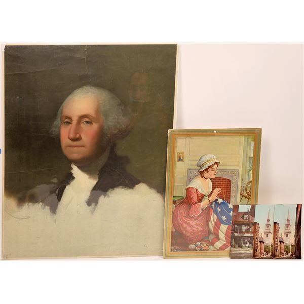 Detroit Photography Co.: Betsy Ross and George Washington  [139712]