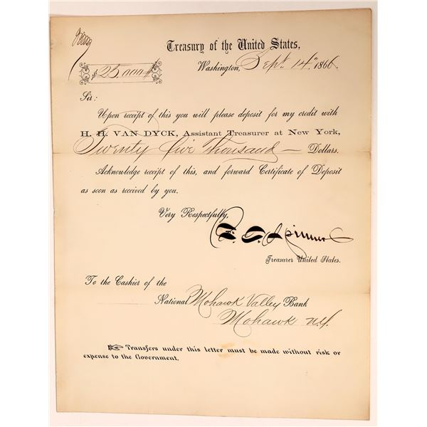 Autograph of Treasurer of the United States Francis E. Spinner  [139196]