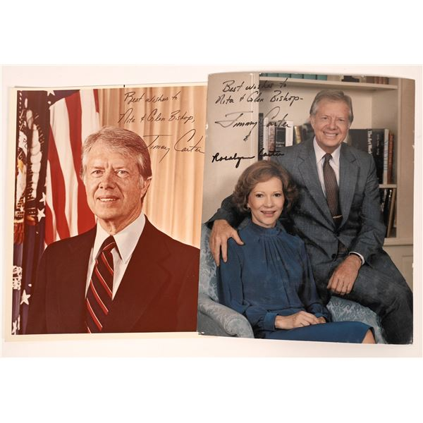 Jimmy Carter Autographed Photos (2)  [139166]