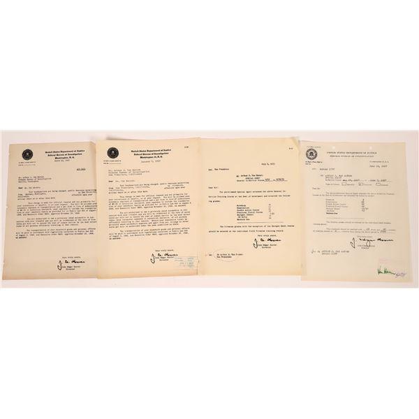 J. Edgar Hoover Signed Letters  [139206]
