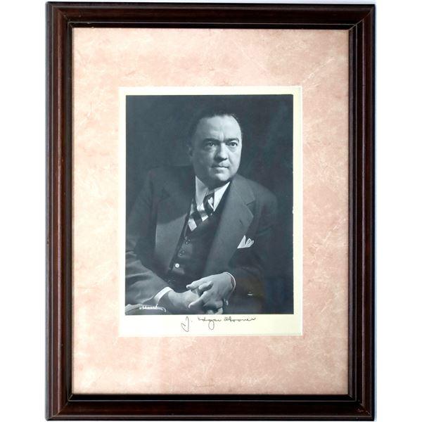 J. Edgar Hoover signed Photograph  [139131]