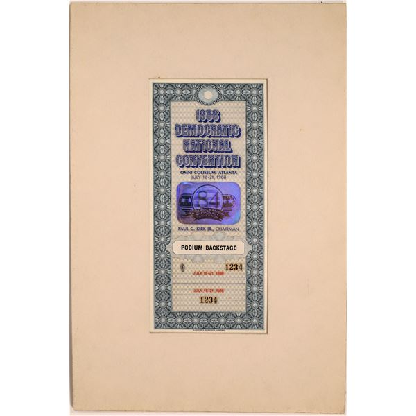 Democratic National Convention Chairman's Pass, Printer's Proof  [140735]