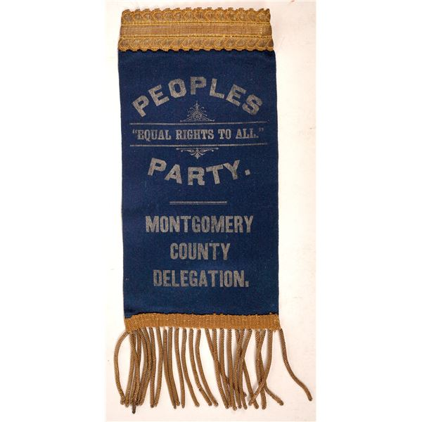Peoples Party Convention Ribbon  [127012]