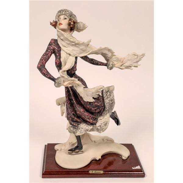 """Giuseppe Armani Vintage Retired Sculpture """"Winter Skater""""  [140710]"""